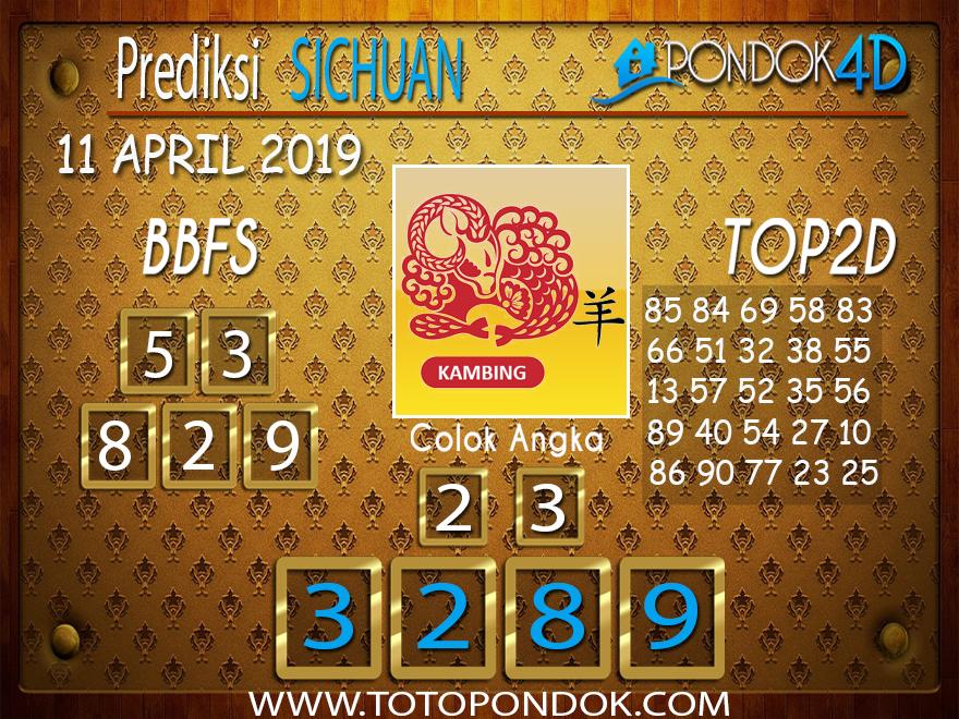 Prediksi Togel SICHUAN PONDOK4D 11 APRIL 2019