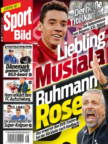 Cover: Sport Bild Magazin Nr 38 vom 22  September 2021