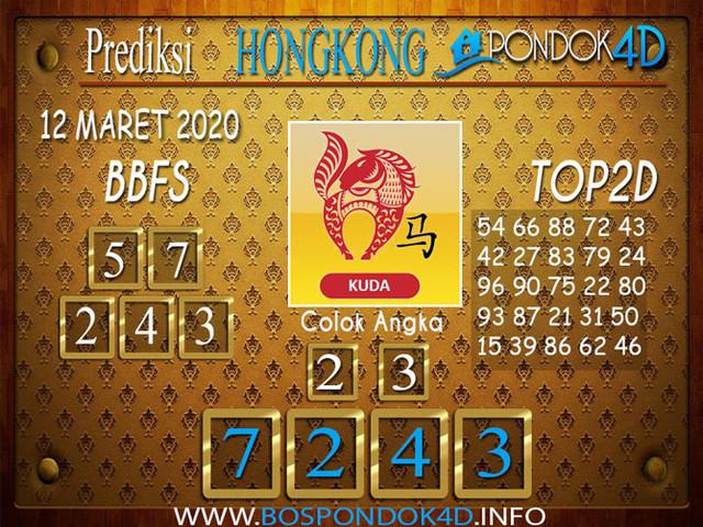 Prediksi Togel HONGKONG PONDOK4D 12 MARET 2020