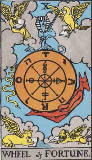 [Immagine: RWS-Tarot-10-Wheel-of-Fortune.jpg]