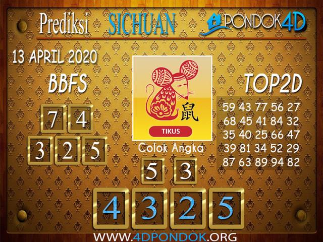 Prediksi Togel SICHUAN PONDOK4D 13 APRIL 2020