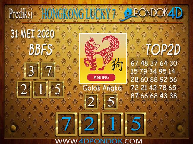 Prediksi Togel HONGKONG LUCKY 7 PONDOK4D 31 MEI 2020