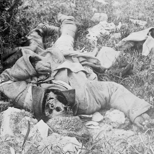 Dead soldier of the first world war