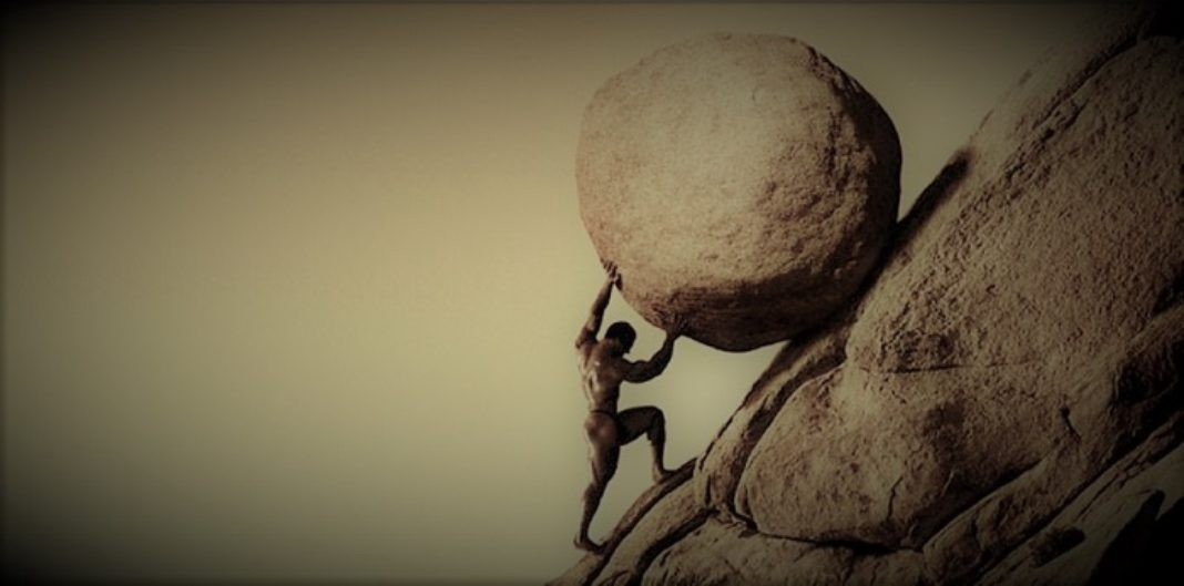 Pushing Boulder Up The Hill