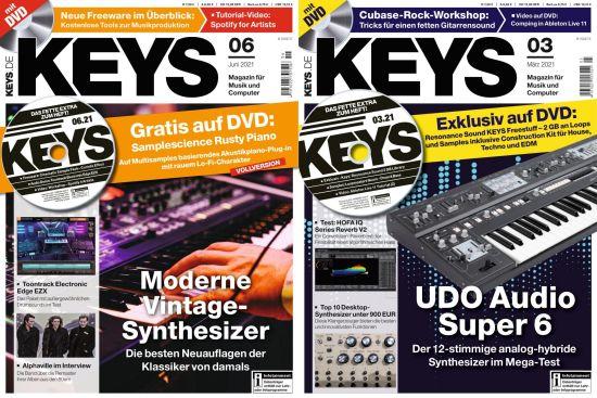 Cover: Keys Magazin Fûr Musik und Computer No 03 + 06 2021