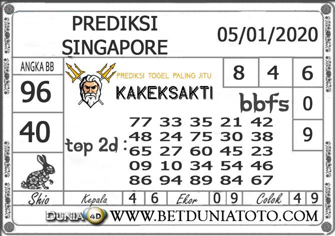 PREDIKSI TOGEL SINGAPORE DUNIA4D 05 JANUARI 2020
