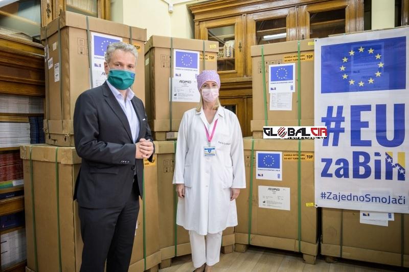 SARADNJA I SOLIDARNOST: Ambasador EU dostavio medicinsku pomoć Kliničkom centru Univerziteta u Sarajevu