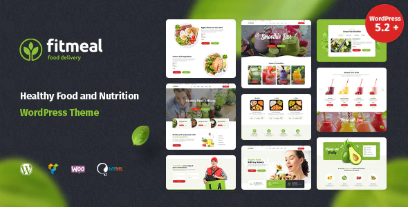 ThemeForest - Fitmeal v1.2.2 - Organic Food Delivery and Healthy Nutrition WordPress Theme - 24849067