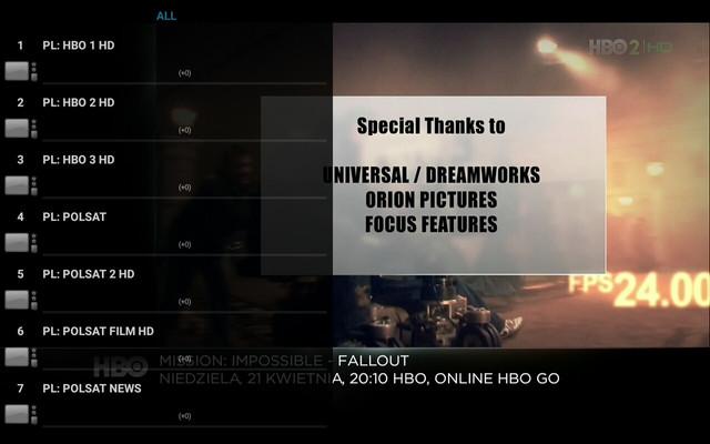 IPTV programy svět přes VLC Player