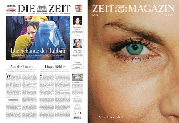 Cover: Die Zeit mit die Zeit Magazin No 34 vom 19 August 2021