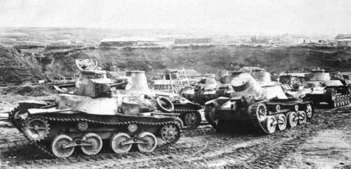 Japanese tanks.