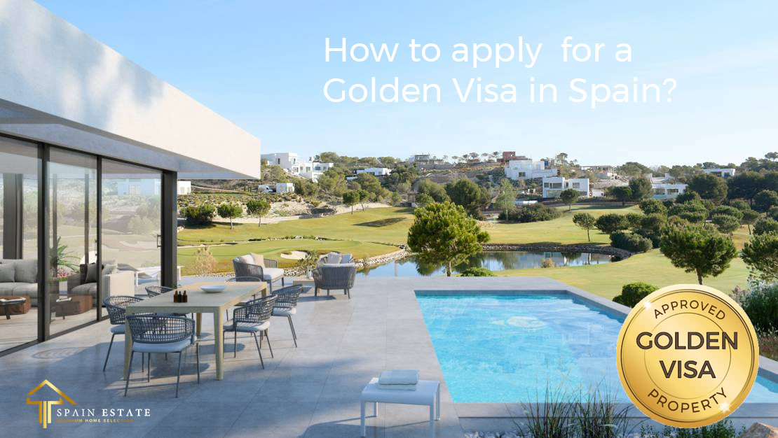 luxury house and real estate property for golden visa in spain