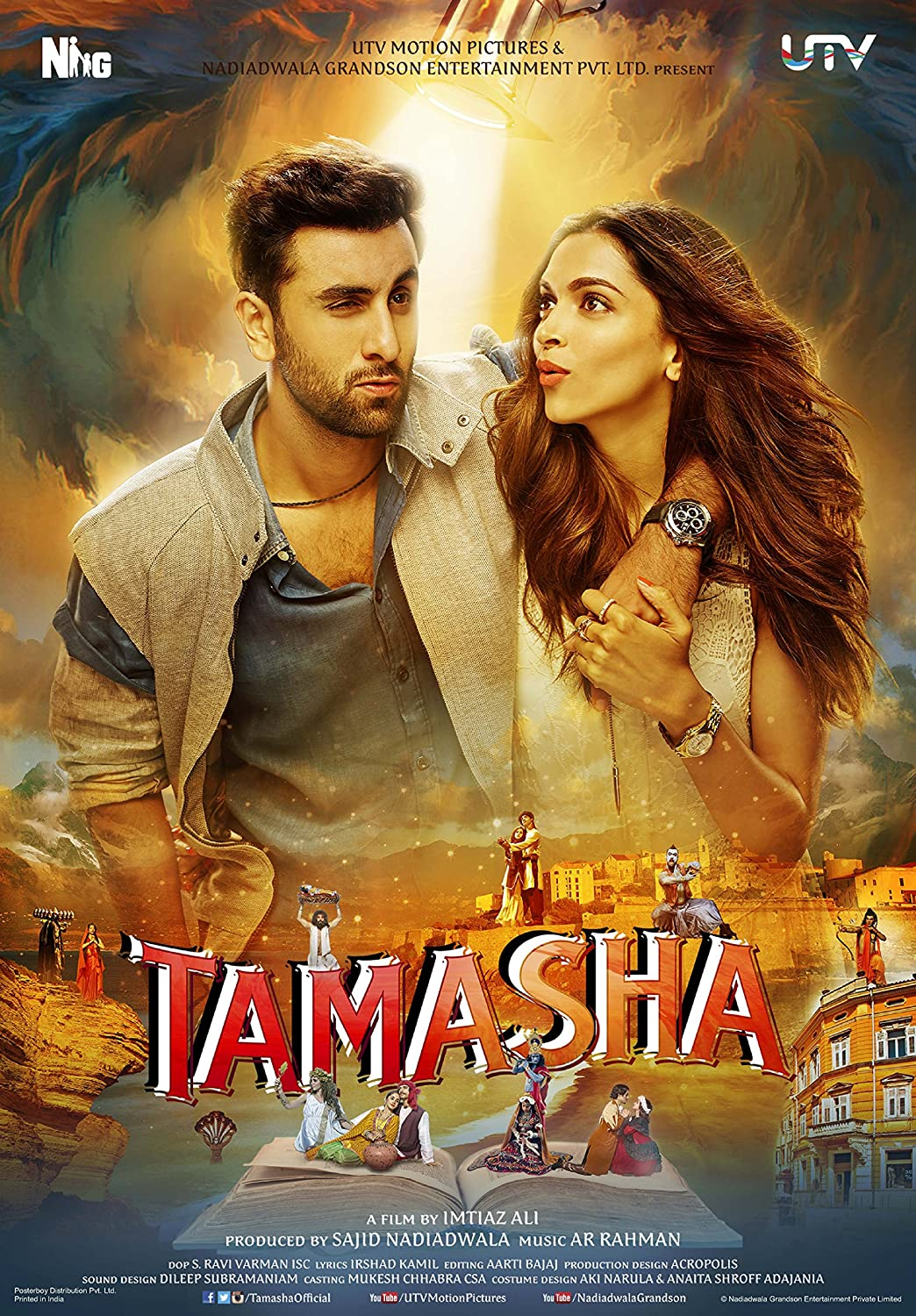 Tamasha (2015) Hindi 480p WEB-DL x264 AAC 400MB ESub