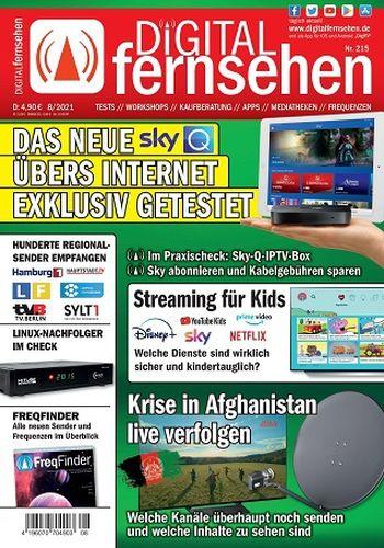 Cover: Digital Fernsehen Magazin No 08 2021