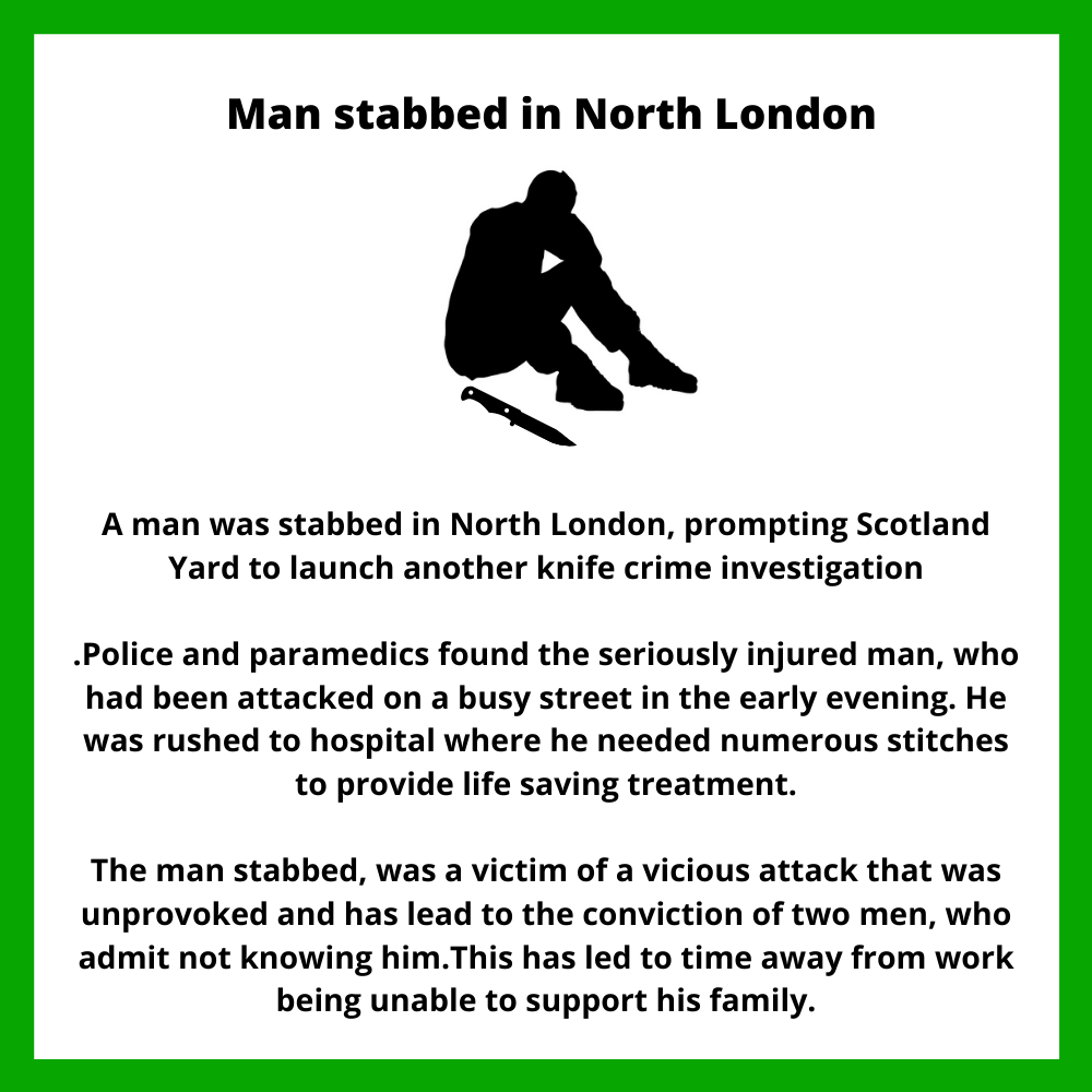 Case study about stabbing in North London