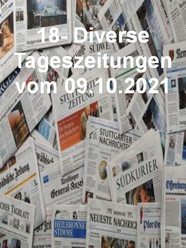 Cover: 18- Diverse Tageszeitungen vom 09  Oktober 2021
