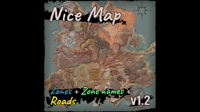Nice Map [Zones + Zone names + Roads]