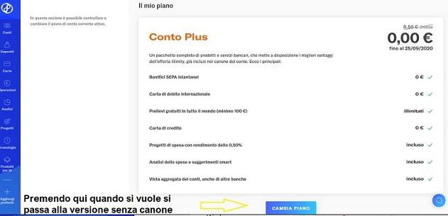 Illimity PROMOZIONE 25,00€ DI BENVENUTO + 25,00 €/invito Scadenza 20/02/2020 + interessi fino 2% Cambio-Piano-Illimity2r