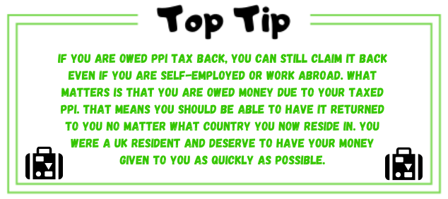 PPI tax returns and help if you live abroad