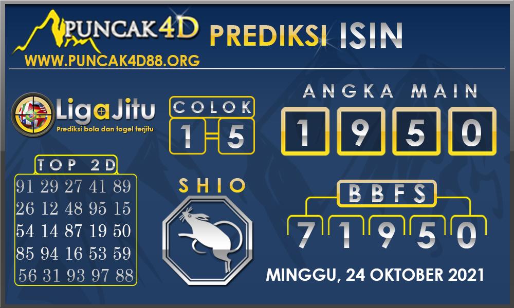 PREDIKSI TOGEL ISIN PUNCAK4D 24 OKTOBER 2021