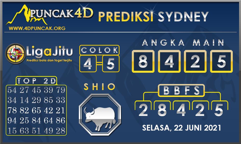 PREDIKSI TOGEL SYDNEY PUNCAK4D 22 JUNI 2021
