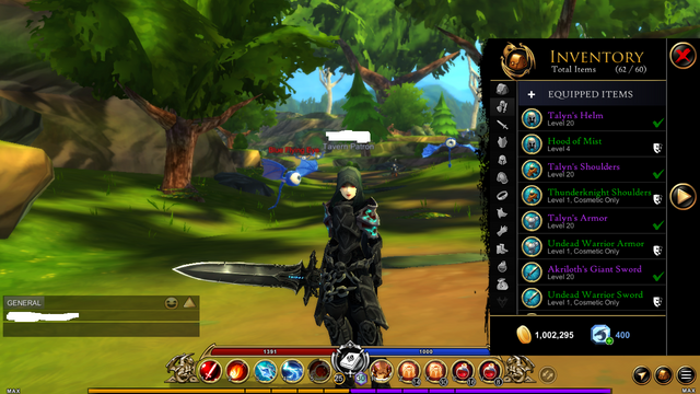 Sold - AQ3D LeveL 25, all classes rank 10 non founder