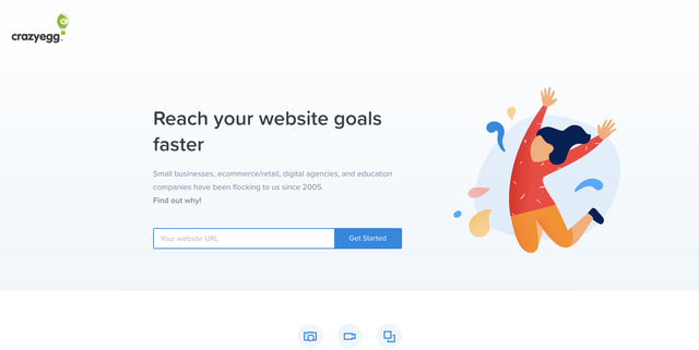 Crazy Egg homepage banner