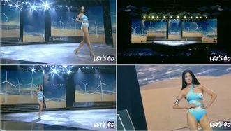 VideoClip: Thúy Vân Hoa hậu Hoàn vũ lộ ngực khi thi bikini trên sóng truyền hình!