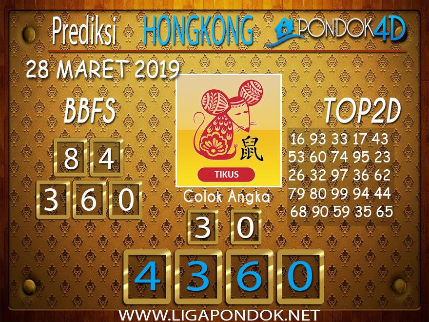 Prediksi Togel HONGKONG PONDOK4D 28 MARET 2019