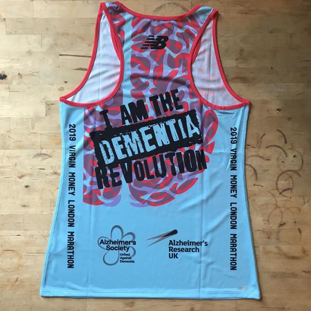 Dementia Revolution 2019 London Marathon Vest