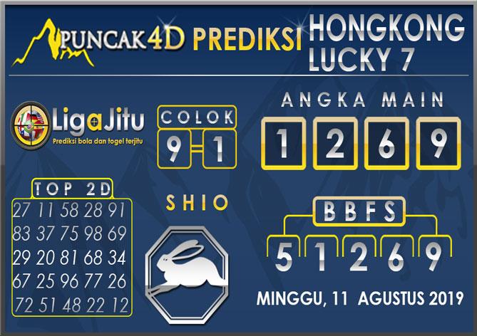 PREDIKSI TOGEL HONGKONG LUCKY7 PUNCAK4D 11 AGUSTUS 2019