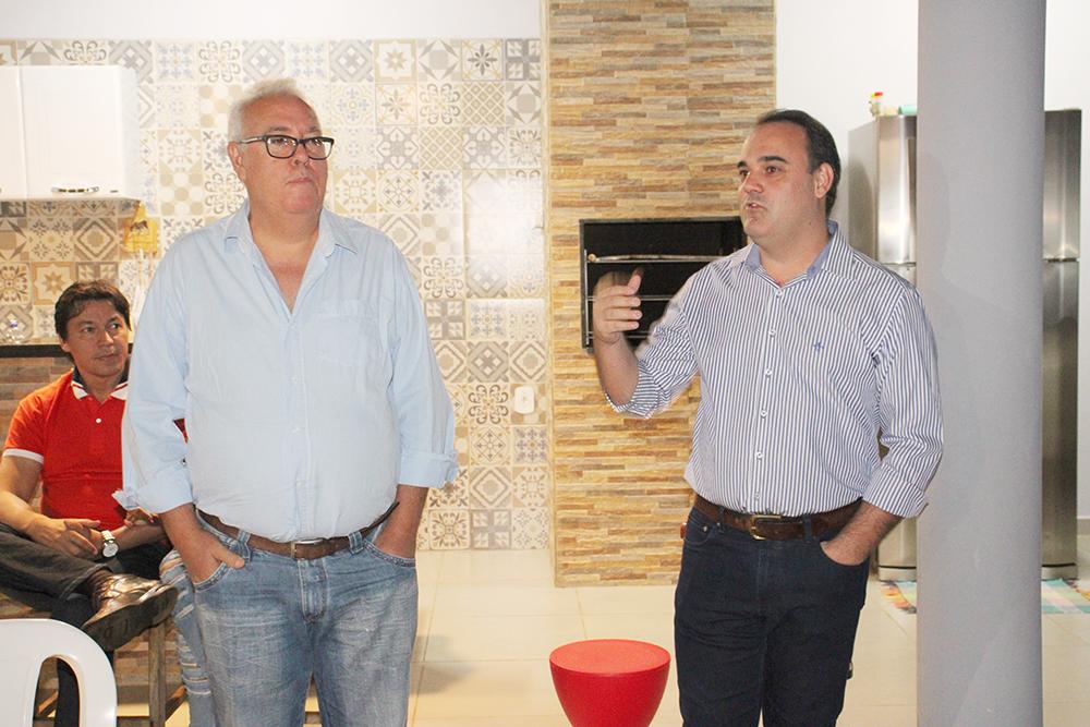 Toninho Chapéu com o filho Rodrigo, fortes lideranças do PTB