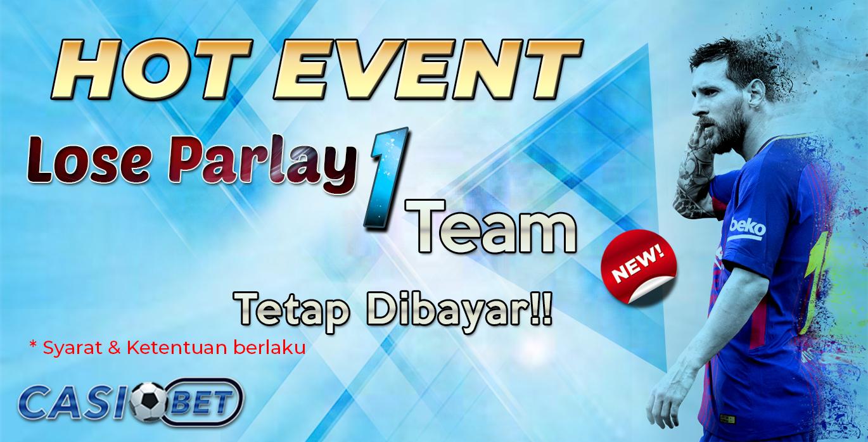 Event Parlay Lose 1 Dibayar