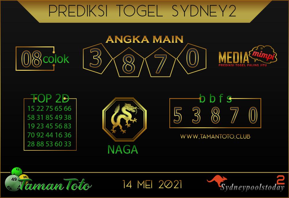 Prediksi Togel SYDNEY 2 TAMAN TOTO 14 MEI 2021