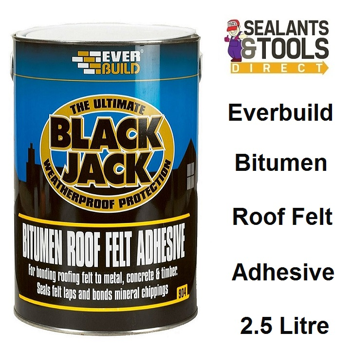 Everbuild 904 Roof Felt & Chipping Adhesive 2.5 Litres - 90402