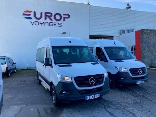 Deux Sprinter Mobility pour Europ Voyages Sprintermobilityeuropvoyages