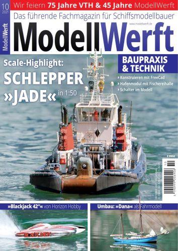 Cover: Modellwerft Magazin für Schiffsmodellbau Magazine No 10 Oktober 2021