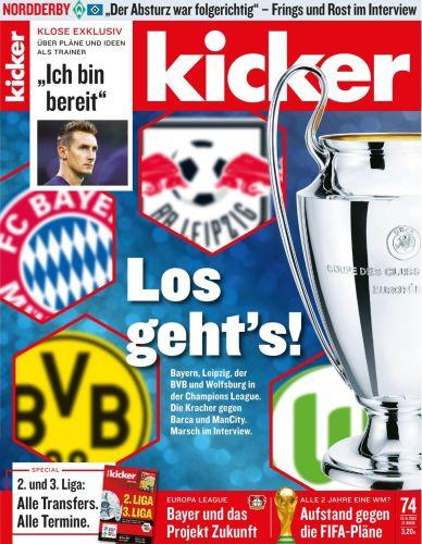 Cover: Kicker Sportmagazin No 74 vom 13  September 2021