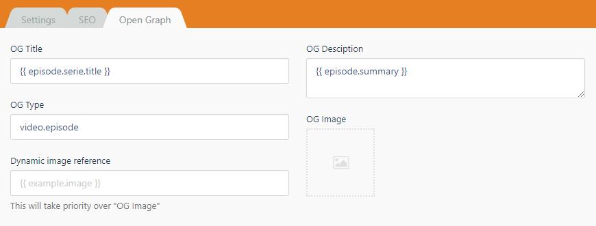 fields showing twig syntax screenshot