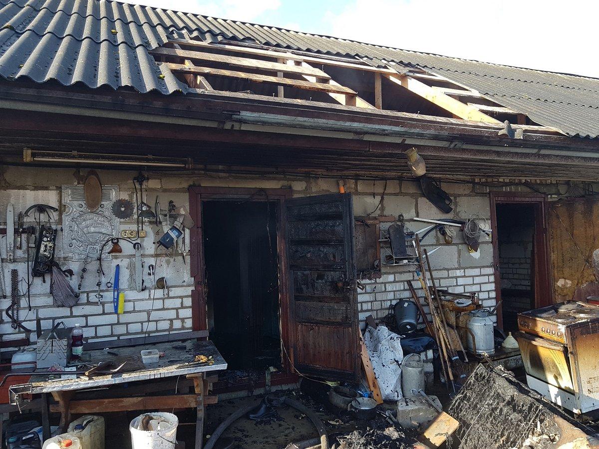 В Лидском районе при пожаре погибли два человека.