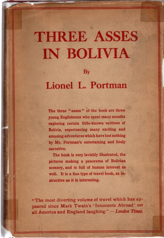 Three Asses in Bolivia, PORTMAN, Lionel