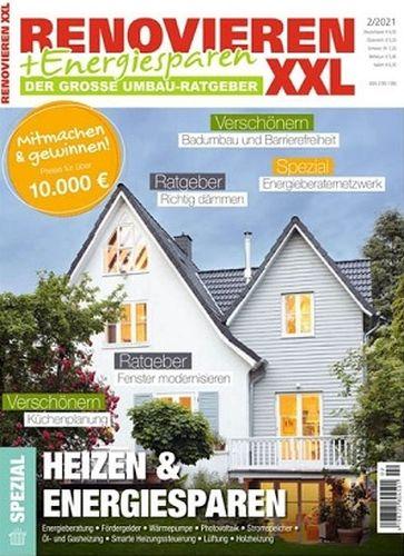 Cover: Renovieren und Energiesparen Magazin No 02 2021