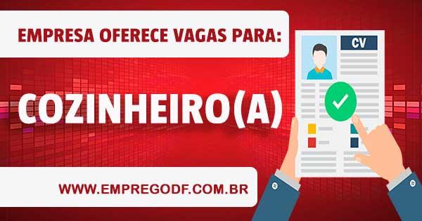 EMPREGO PARA COZINHEIRO COM O SALÁRIO DE R$ 1.500,00