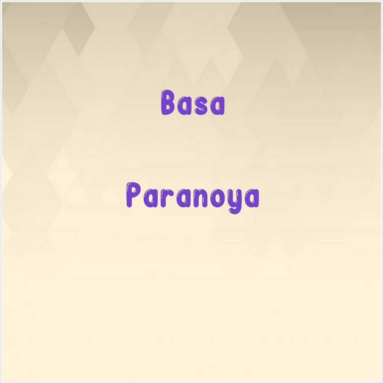 دانلود آهنگ جدید Basa به نام Paranoya
