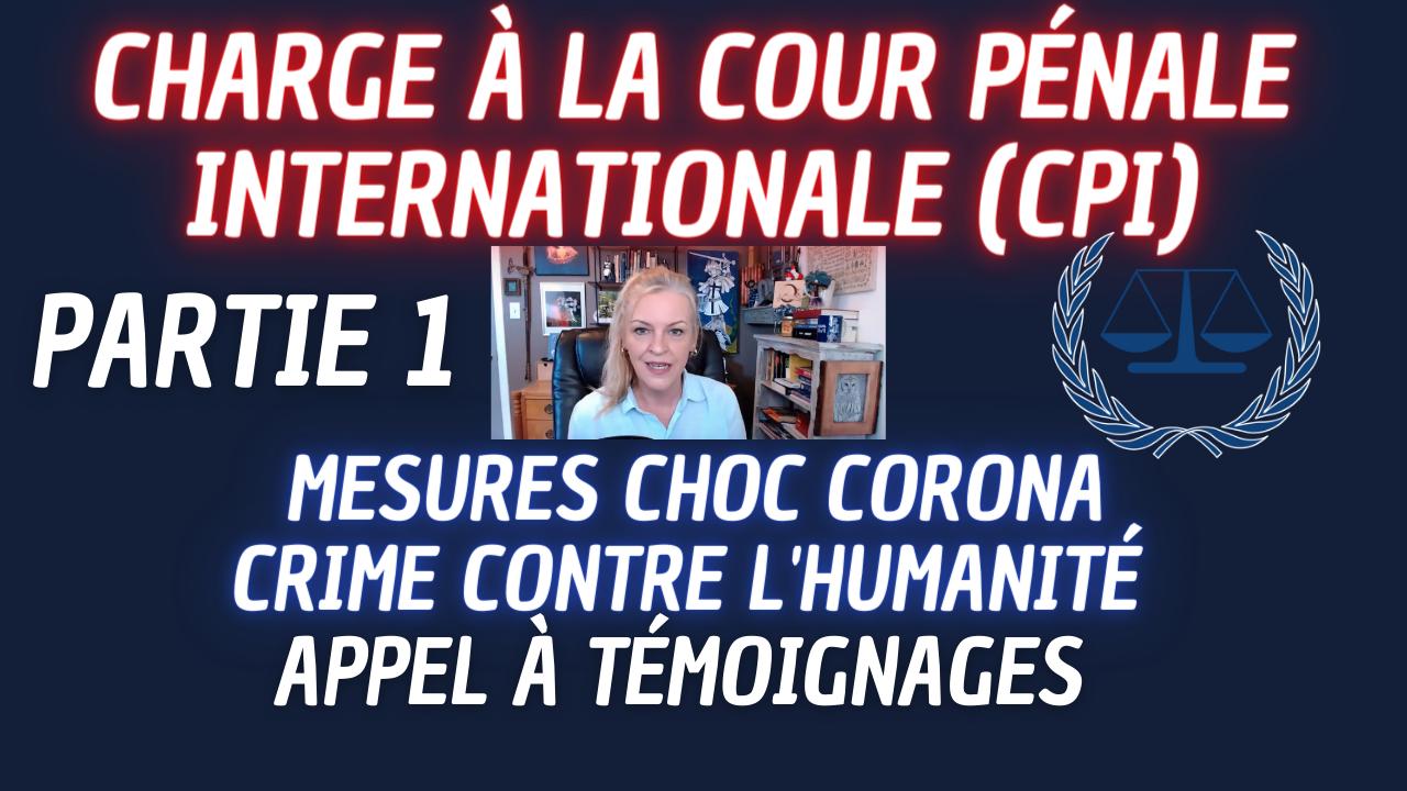 Cour pénale internationale Mesures de choc corona Crime contre l'humanité appel à témoignages Part 1