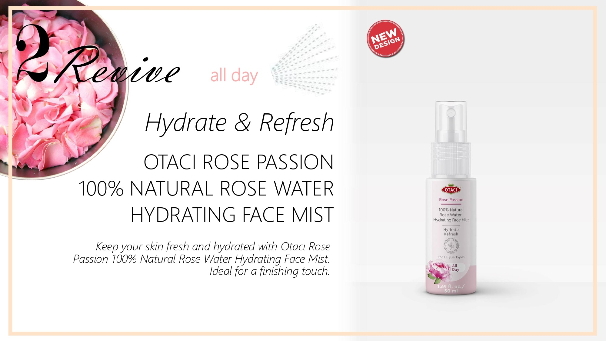 Otaci Rose water mist face spray