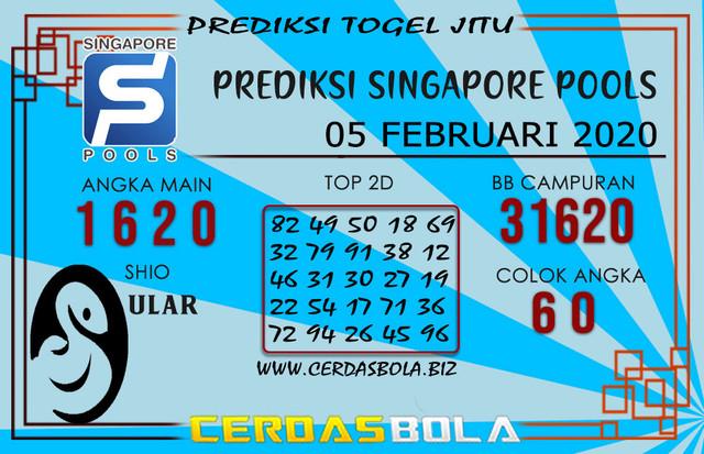 Prediksi Togel SINGAPORE CERDASBOLA 05 FEBRUARI 2020