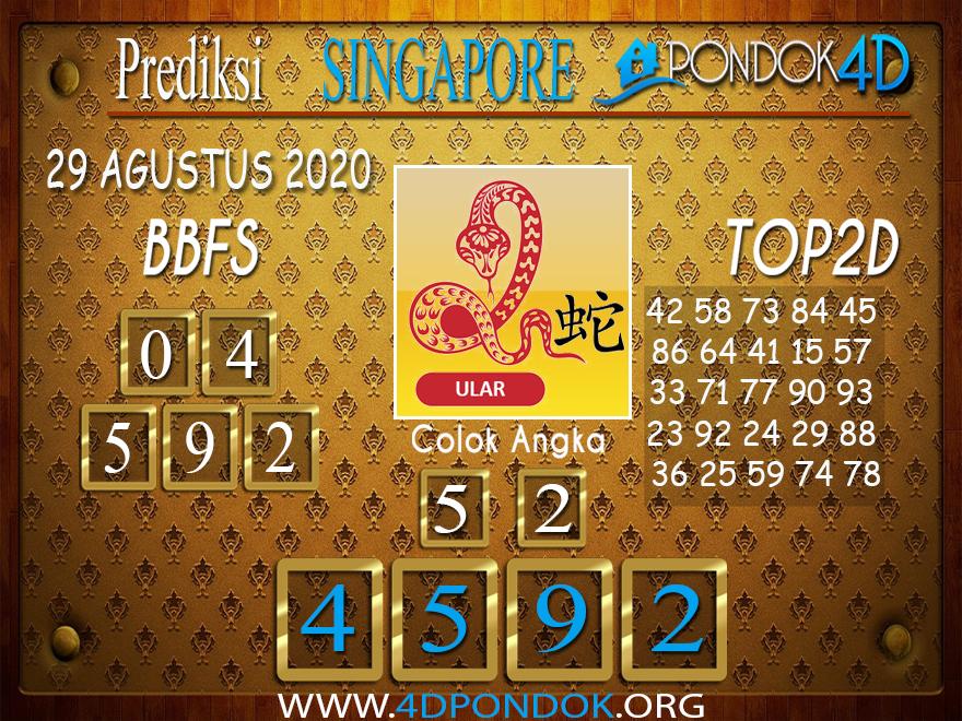 Prediksi Togel SINGAPORE PONDOK4D 29 AGUSTUS 2020