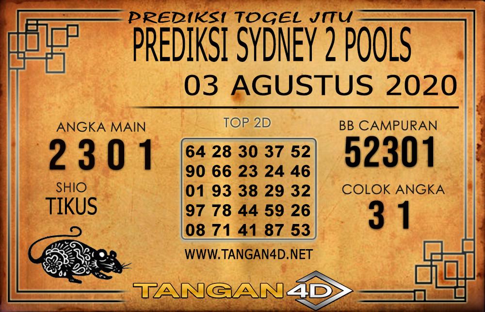 PREDIKSI TOGEL SYDNEY 2 TANGAN4D 03 AGUSTUS 2020