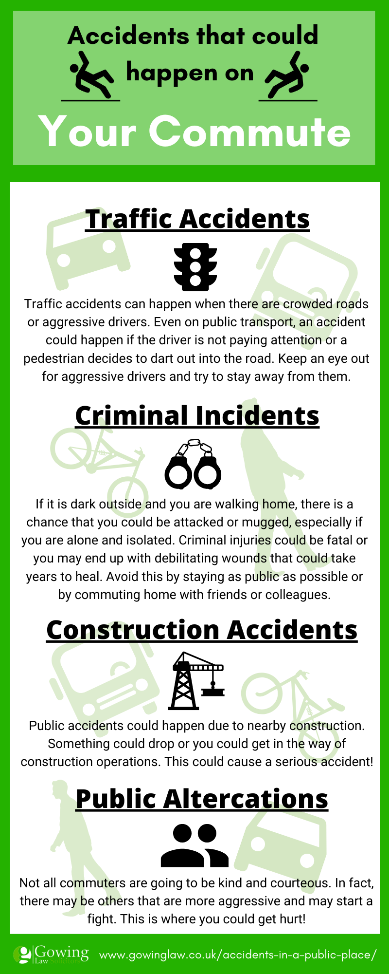 your commute dangers infographic